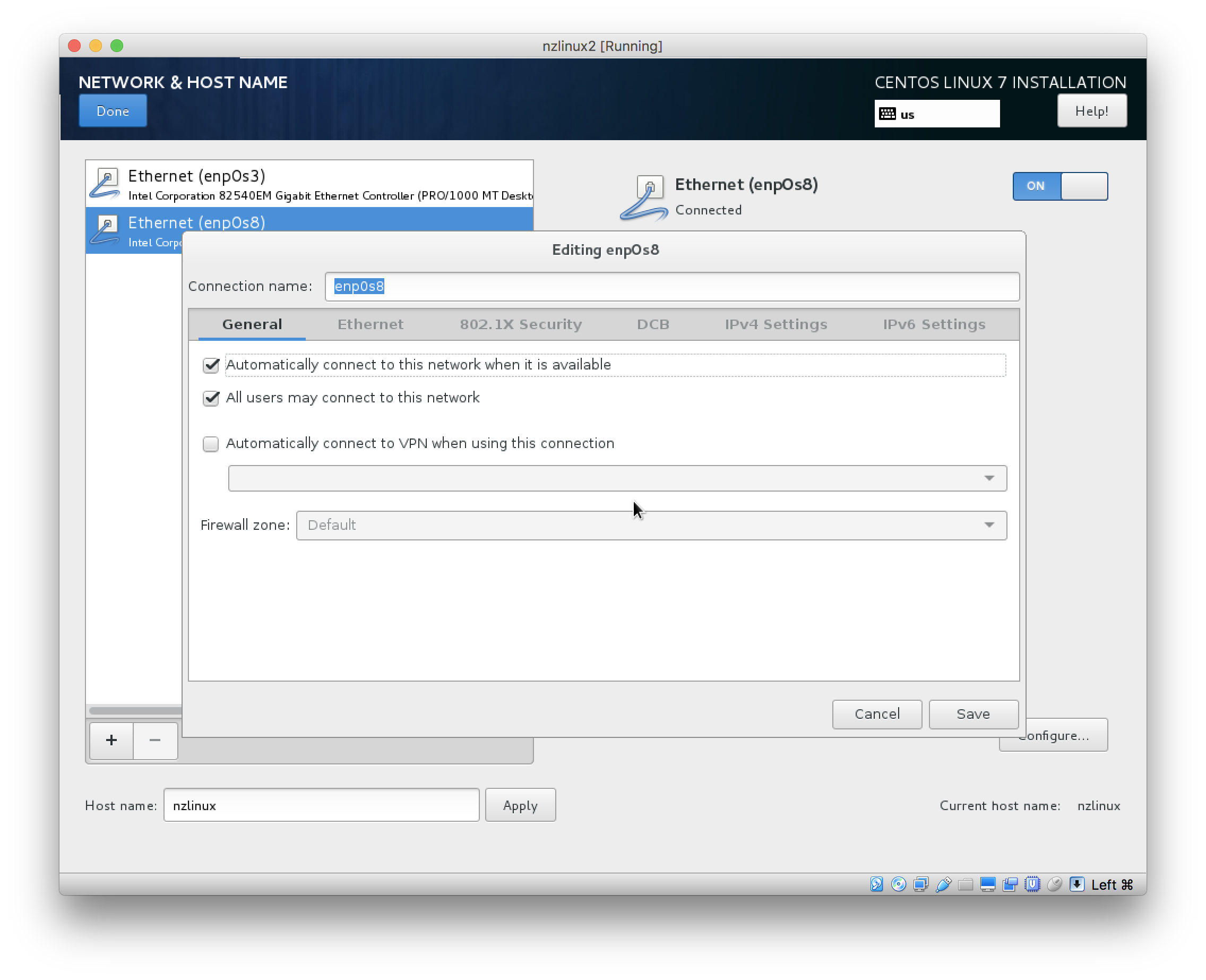 Create Linux VM running CentOS 7 3 minimal with pyodbc and Netezza