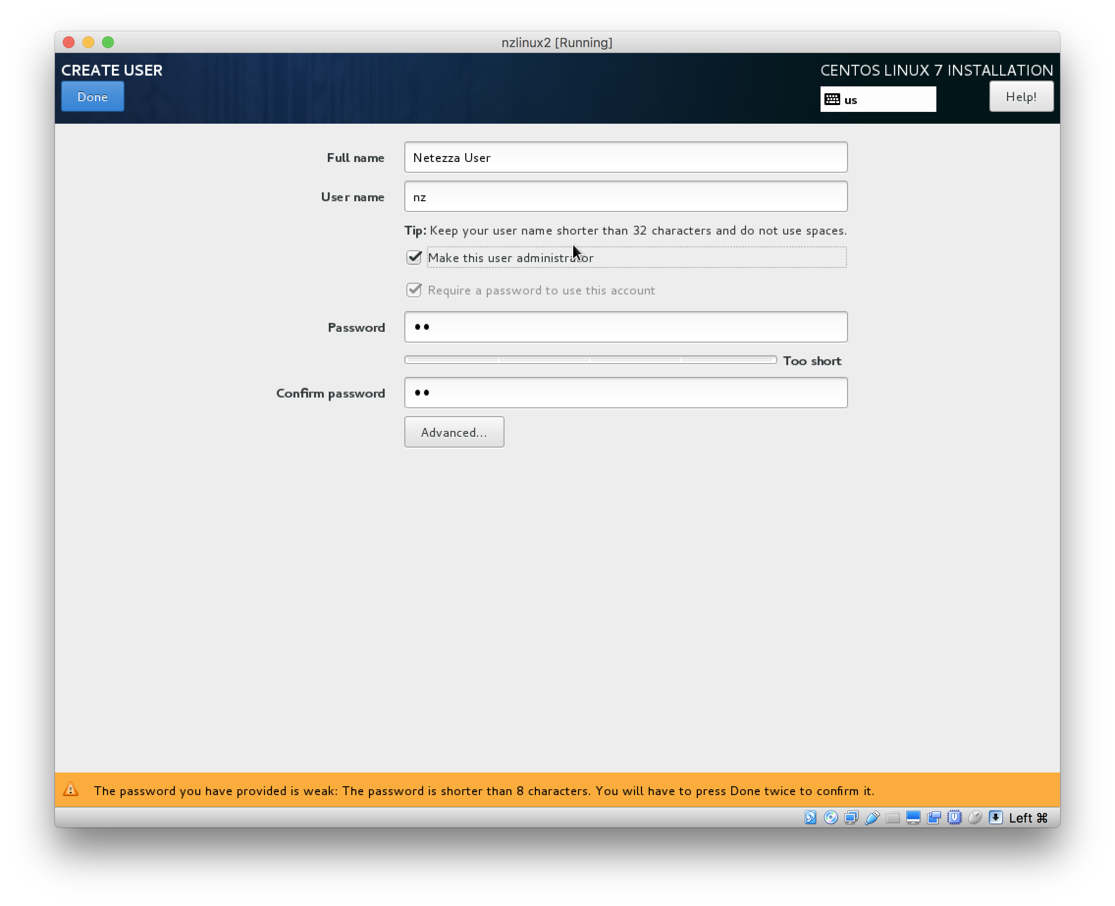 Create Linux VM running CentOS 7 3 minimal with pyodbc and